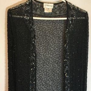 Beautiful black beaded sequin Stenay  jacket